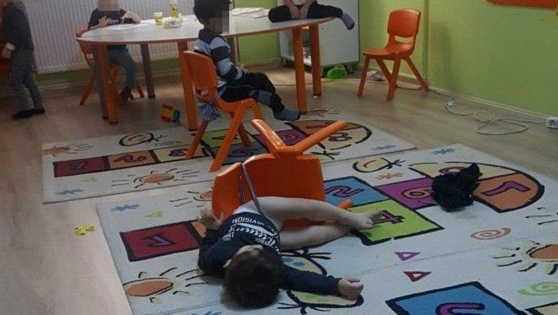 İkizlerin sandalyeye bağlandığı anaokulundan fotoğraf için kurgu iddiası