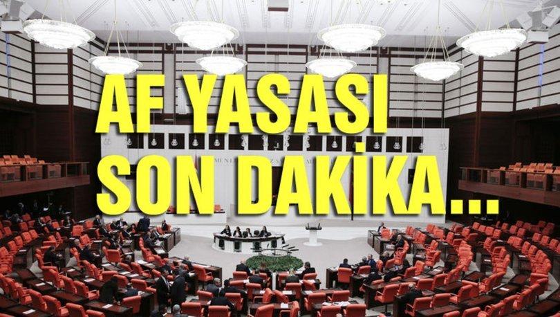 Af yasası SON DAKİKA! Af yasası ceza indirimi son durum bugün ne oldu? 18 Ocak genel af yasası