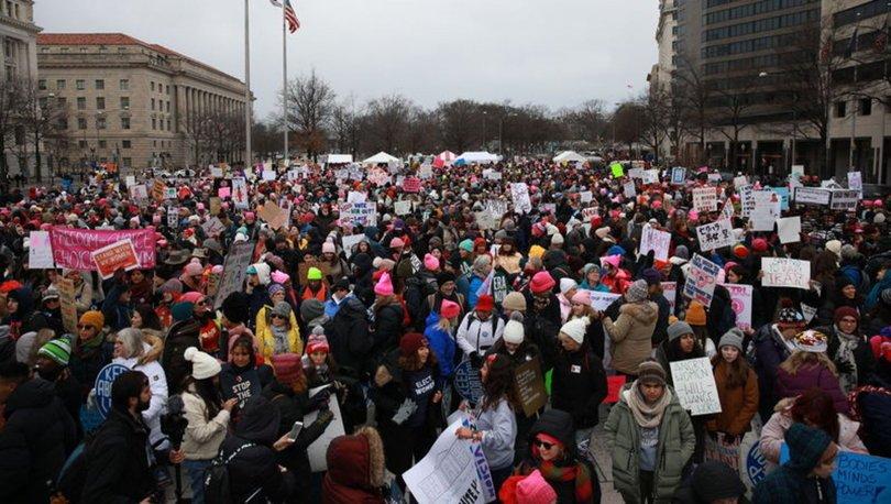 ABD'de Kadınlar Yürüyüşü'nün dördüncüsü gerçekleşti