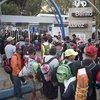 Binlerce göçmen Meksika sınırında