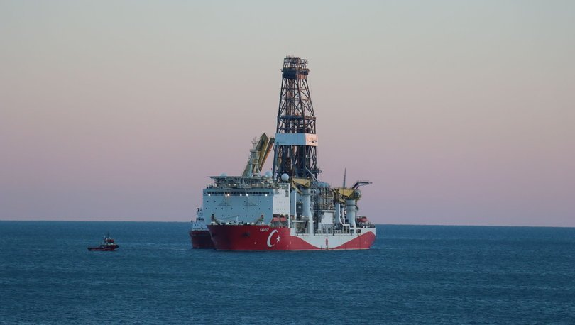 Yavuz sondaj gemisi yeni yerinde