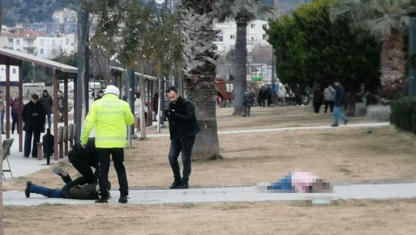 Parkta eşini vurdu, polis ve sağlık ekibi gelinceye kadar başında bekledi