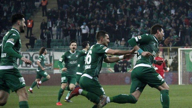 Bursaspor: 2 - Fatih Karagümrük: 1 | MAÇ SONUCU
