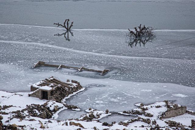 Baraj suları çekilince ortaya çıkmıştı...