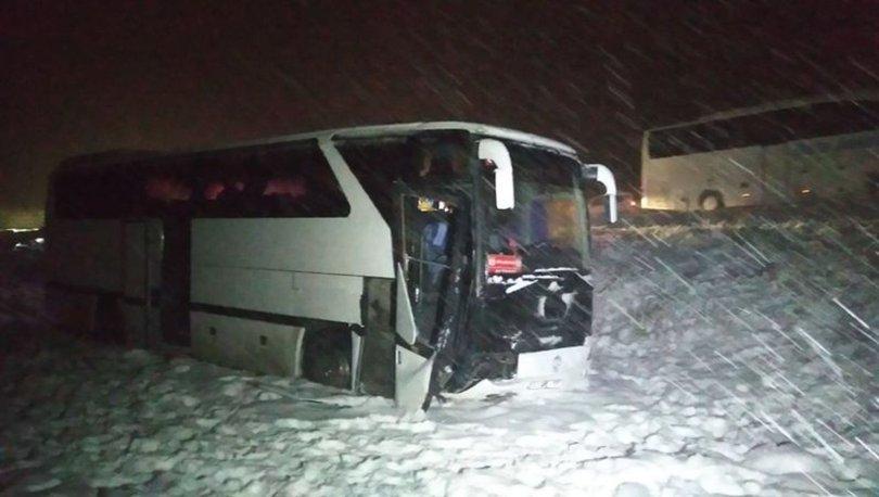 Sivas'ta genç futbolcuları taşıyan otobüs yoldan çıktı: 7 yaralı