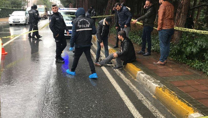 Bacağından silahla vurulan yaralı kaldırıma oturdu, ambulans bekledi
