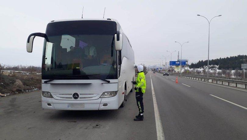 Şehirler arası yolcu taşıyan 351 otobüs trafikten men edildi