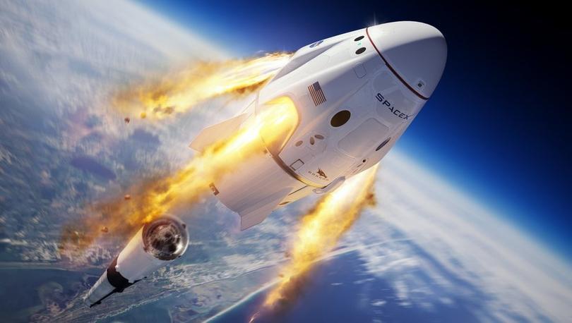 SpaceX'in acil durum testi: Falcon 9 infilak ettirildi, astronot kapsülü okyanusa indi