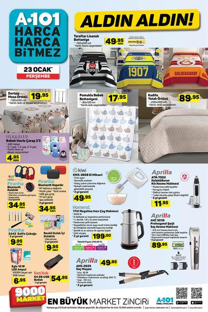 A101 23 Ocak Aktüel ürünler kataloğu! A101'de bu hafta indirimli neler var?
