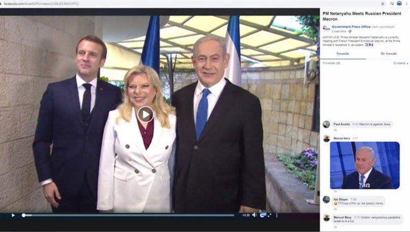 Netanyahu'nun ofisi Putin ile Macron'u karıştırdı!