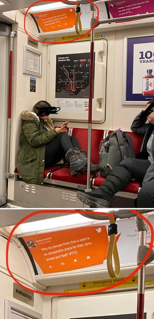 Metroda çılgına çeviren kareler...
