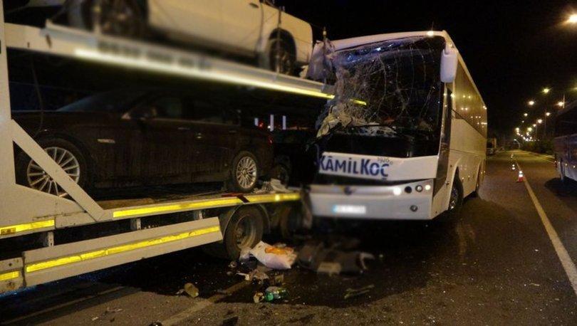 Son dakika! Uşak'ta yolcu otobüsü kazası: Yaralılar var