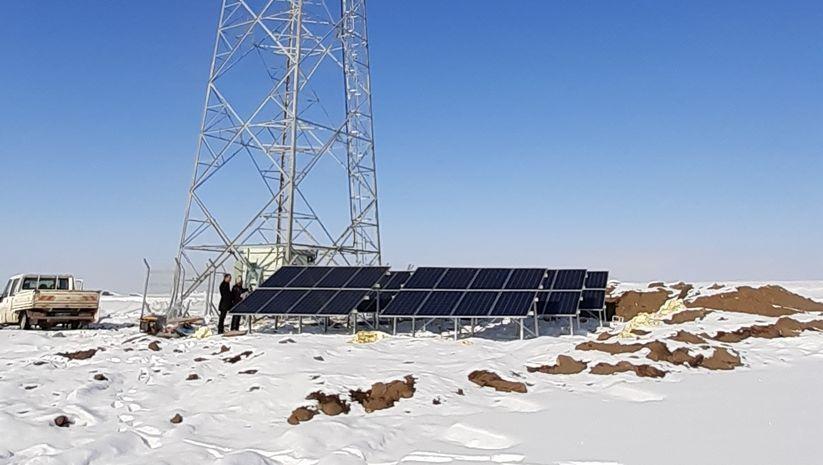 Ağrı'ya güneş enerjili baz istasyonu