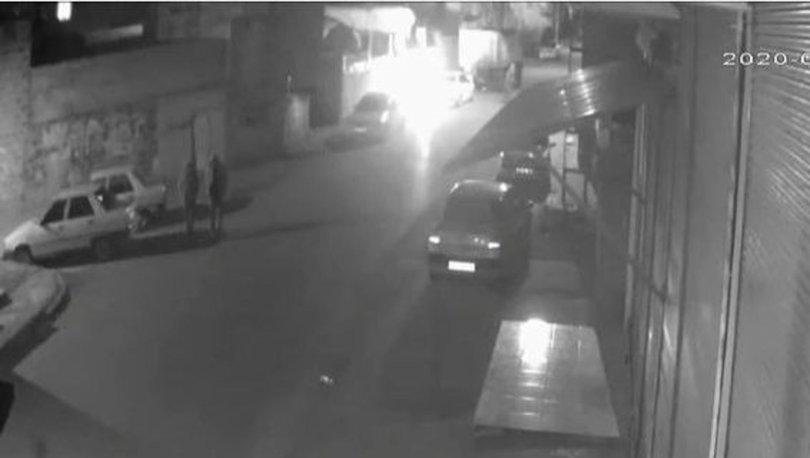 Şanlıurfa'da bir şüphelinin lüks aracı kundaklama girişimi kameraya yansıdı