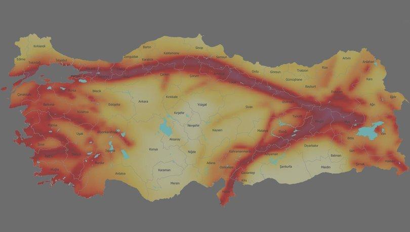 Türkiye deprem haritası AFAD 2020: MTA deprem fay hattı sorgulama