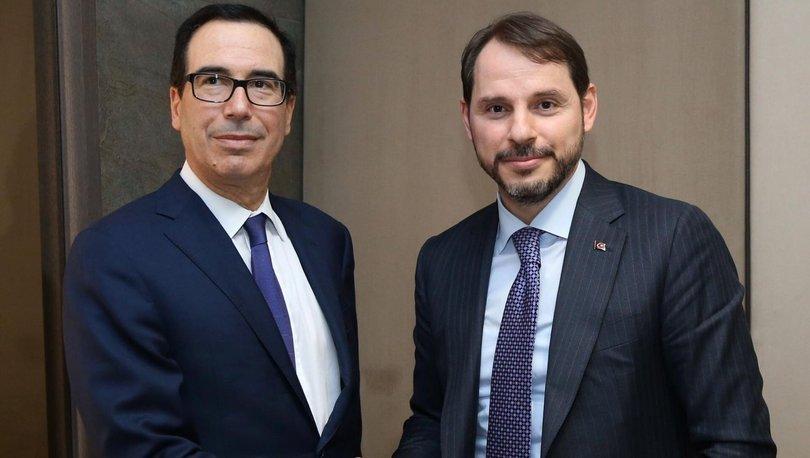Bakan Albayrak ve ABD Hazine Bakanı Mnuchin Davos'ta görüştü - Haberler