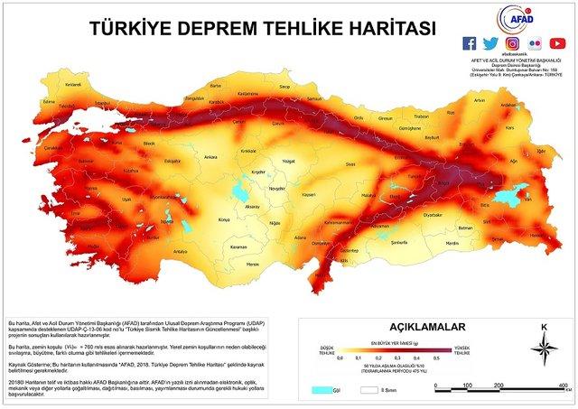 Elazığ deprem! Deprem fay hattı haritası, Doğu Anadolu fay hattı! Deprem son dakika 2020