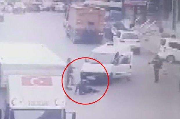 Eyüpsultan'da kaza anı kameraya yansıdı