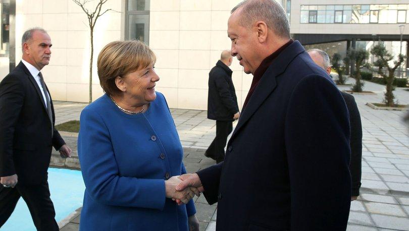 SON DAKİKA! Merkel ile Cumhurbaşkanı Erdoğan İstanbul'da buluştu: Libya mesajı