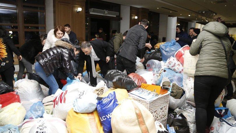 Deprem sonrası Elazığ'a yardım yağıyor