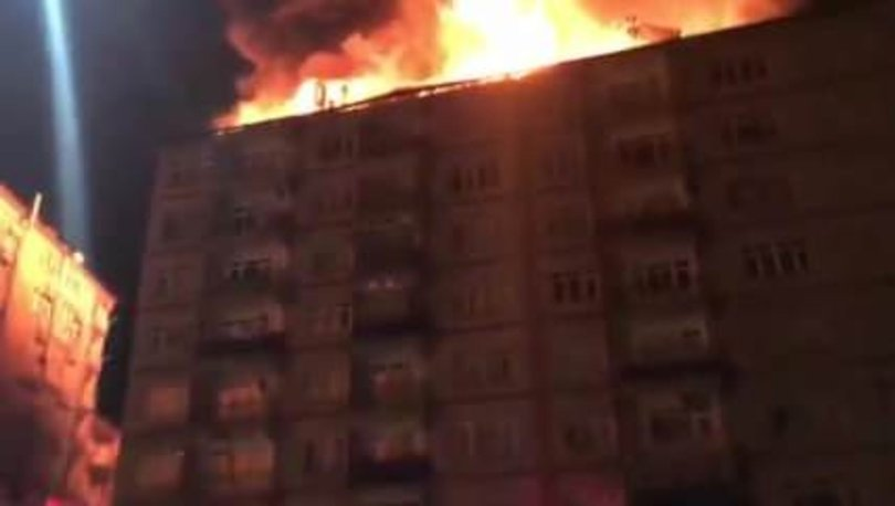 Elazığ'da deprem sonrası yangın