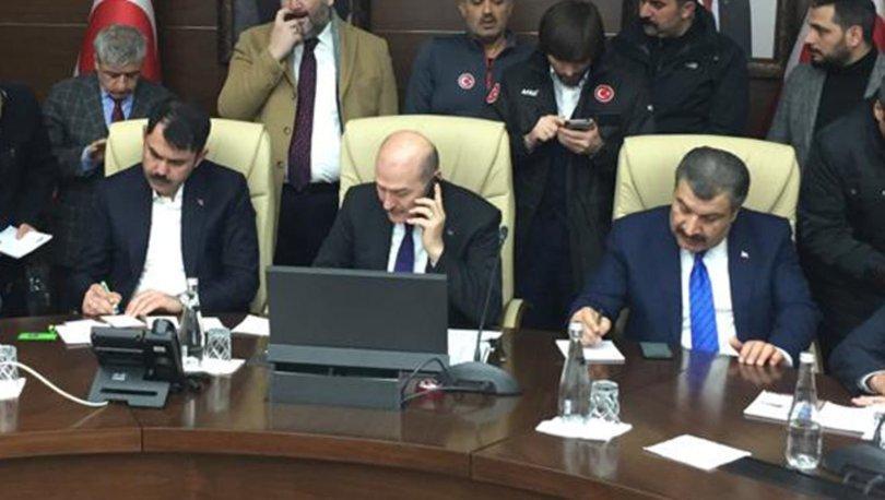 SON DAKİKA: Üç bakandan Elazığ depremi açıklaması! Elazığ Valiliği'nde ortak basın toplantısı