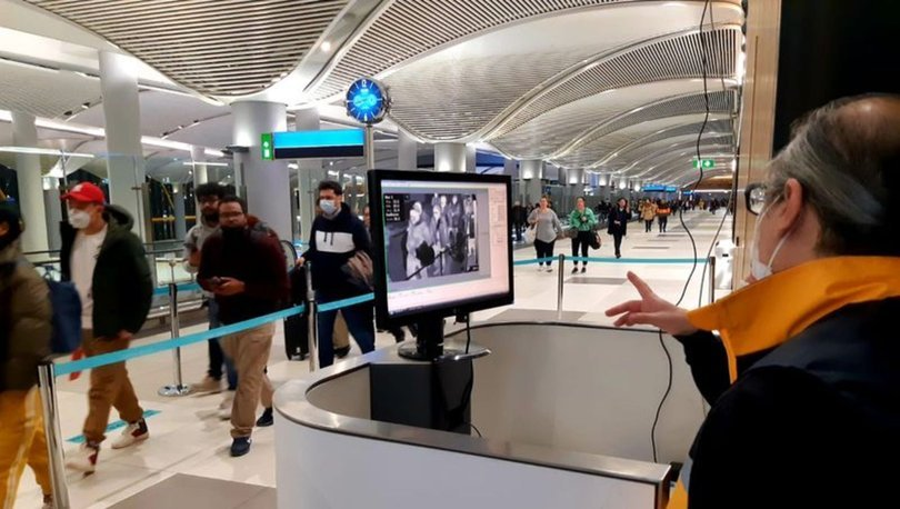 Çin'den İstanbul'a gelen yolcuların termal kameralarla kontrolü devam ediyor