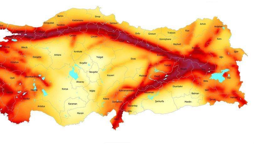 Doğu Anadolu Fay Hattı nerelerden geçmektedir? AFAD 2020 Türkiye deprem haritası: Doğu Anadolu Fay Hattı
