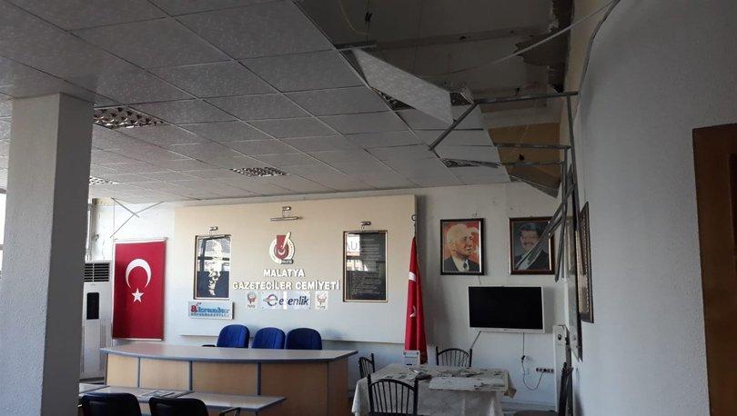 Malatya Gazeteciler Cemiyeti depremde hasar gördü