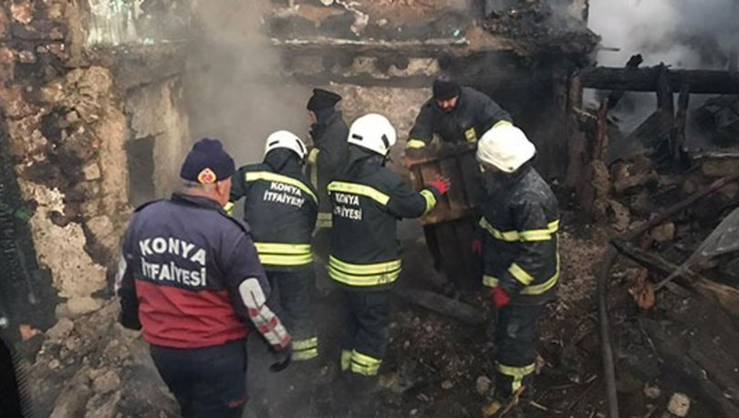Konya'da bir evde çıkan yangında 3 kişi yanarak hayatını kaybetti