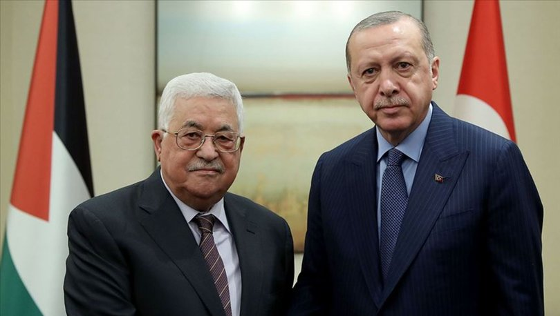 Filistin Devlet Başkanı Abbas'tan, Cumhurbaşkanı Erdoğan'a deprem nedeniyle taziye mesajı