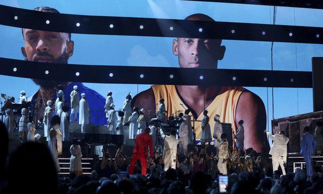 Kobe Bryant'ın gölgesinde Grammy! İşte kırmızı halıdan görüntüler