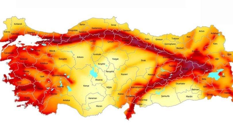 AFAD Türkiye deprem haritası! Doğu Anadolu Fay Hattı nerelerden geçiyor?