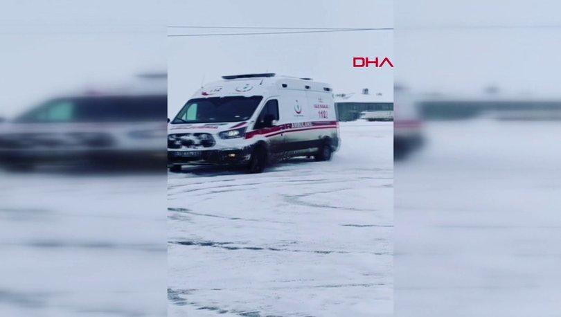 Drift yapan ambulansa soruşturma!