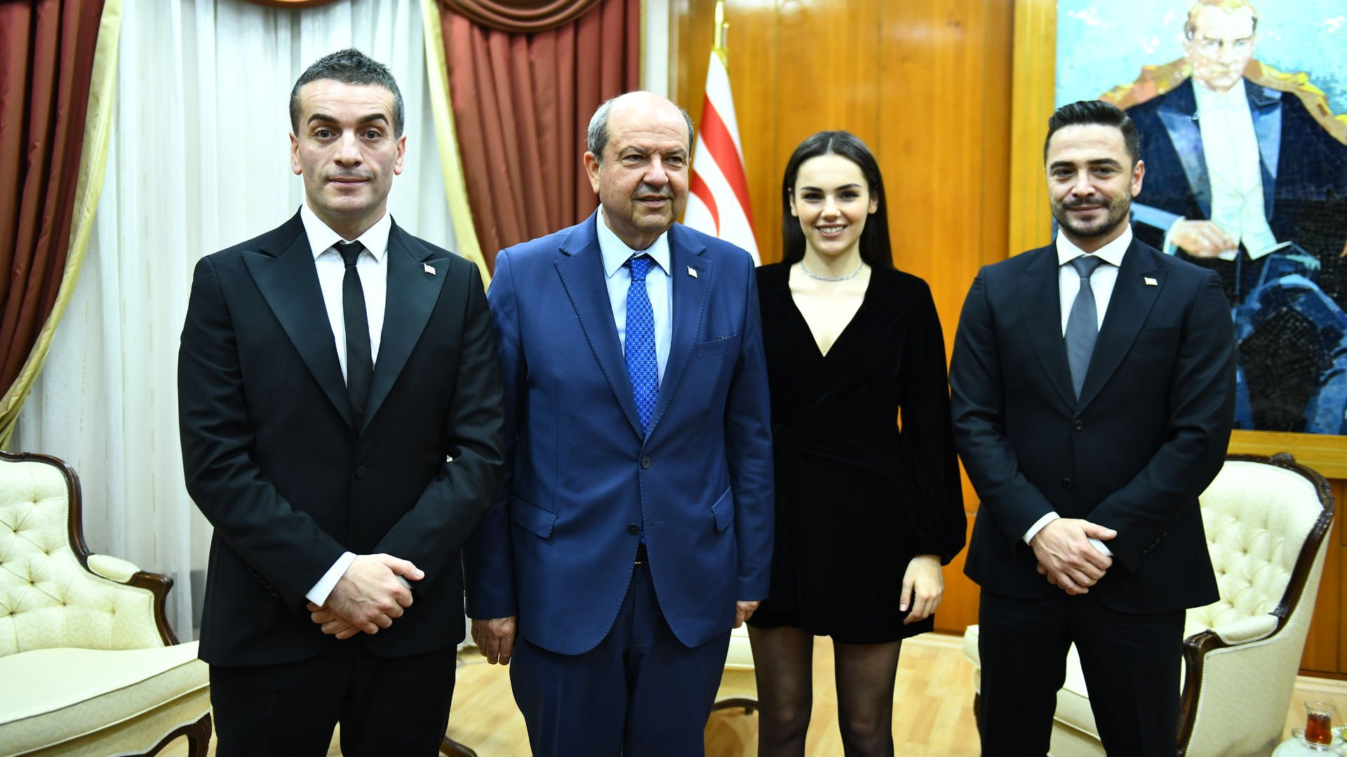 Başbakan Tatar'a konuk oldular