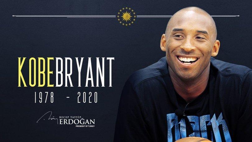 Cumhurbaşkanı Recep Tayyip Erdoğan'dan Kobe Bryant mesajı