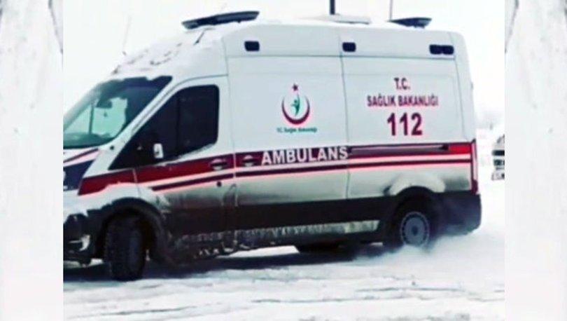 Hakkari'de ambulansla drift atan sürücü görevden uzaklaştırıldı