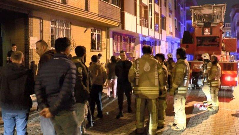 Esenyurt'ta korkutan yangın! 5'i çocuk 10 kişi mahsur kaldı