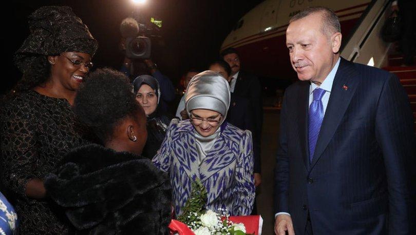 Cumhurbaşkanı Erdoğan Senegal'e geldi
