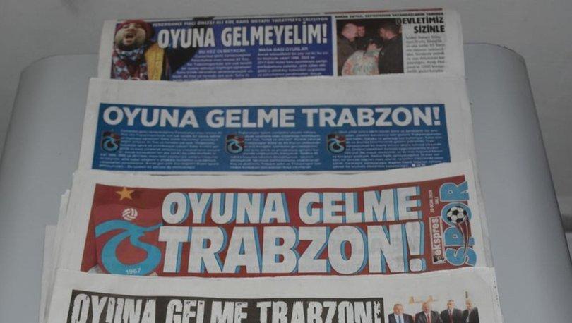 Trabzon yerel basınından taraftarlara sağduyu çağrısı