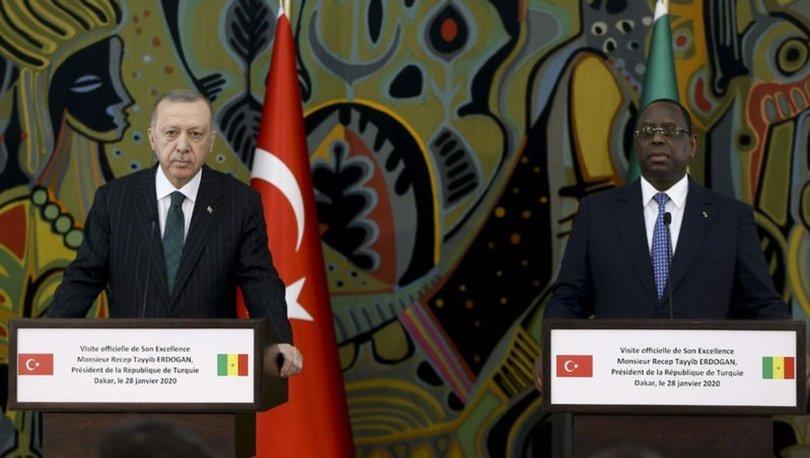 Cumhurbaşkanı Erdoğan Senegal'de konuşuyor