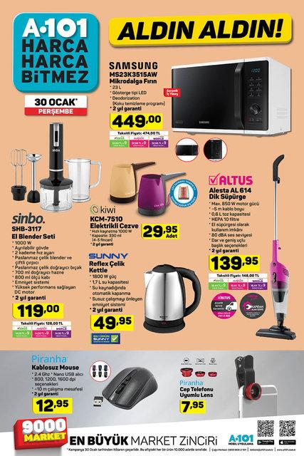 A101 30 Ocak 2020 aktüel ürünleri satışa çıkıyor! A101 bugün hangi ürünler indirimli olacak? İşte tam liste