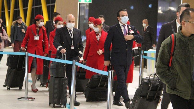 THY ekipleri Çin uçuşlarında maske takmaya başladı