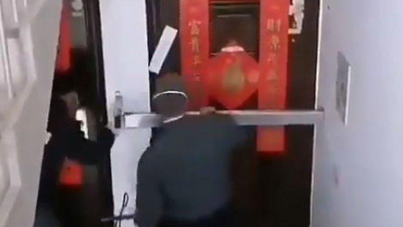 Son dakika haberleri.. Çin'de koronavirüs nedeniyle evlerin mühürlendiği iddiası