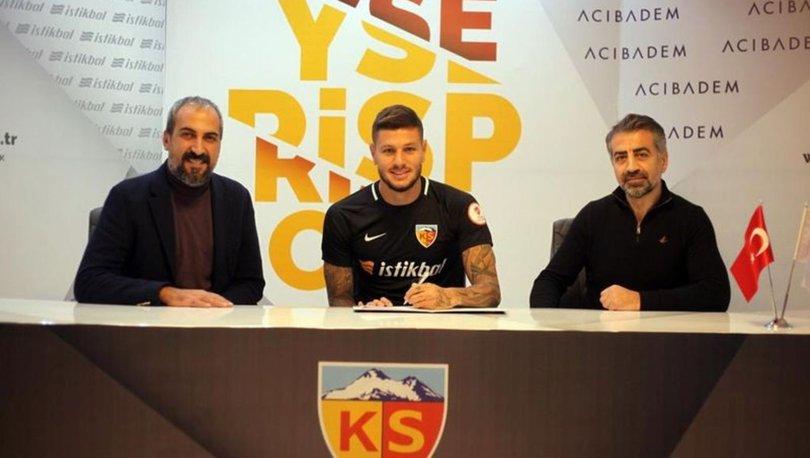 Kayserispor, Diego Angelo'yu sezon sonuna kadar kiraladı