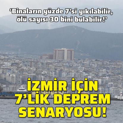İzmir için 7'lik deprem senaryosu!