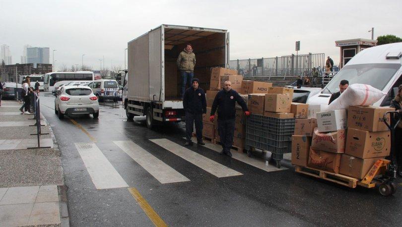 İstanbul Adliyesi personelleri Elazığ'a 91 kolilik yardım gönderdi