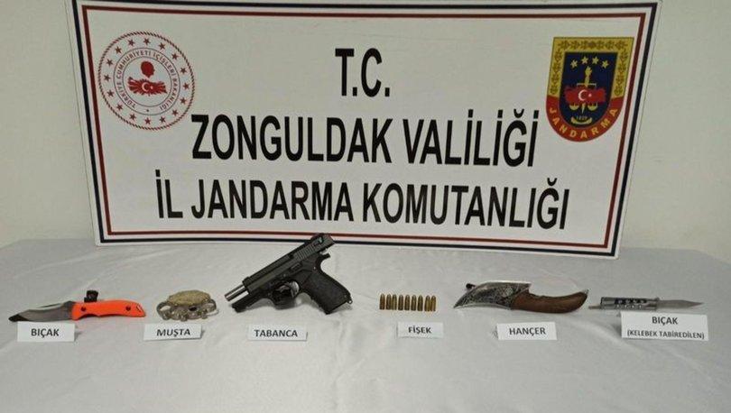 Zonguldak'ta yakalanan zanlının üzerinden cephanelik çıktı