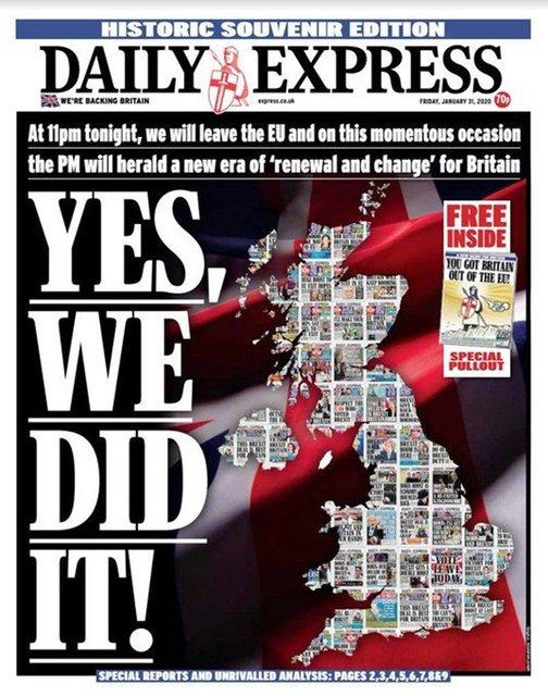 Brexit günü manşetleri