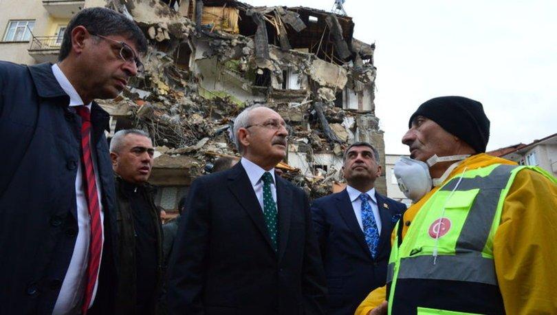 CHP Genel Başkanı Kılıçdaroğlu, deprem bölgesinde